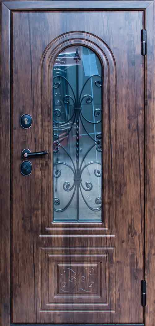 """Входная металлическая сейф-дверь СТ-10 Готика """"Стальпромтехника"""""""